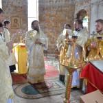 Высокопреосвященнейший Лука, архиепископ Запорожский и Мелитопольский совершил Божественную литургию в храме великомученика и целителя Пантелеимона