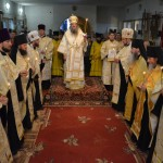 Высокопреосвященнейший Лука, архиепископ Запорожский и Мелитопольский совершил Всенощное бдение в Мелитопольском мужском монастыре Саввы Освященного (15.08.2015)