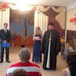 Благочинный церквей  г. Мелитополя посетил детский центр социально-психологической реабилитации детей в день усыновления. (30.09.2015)
