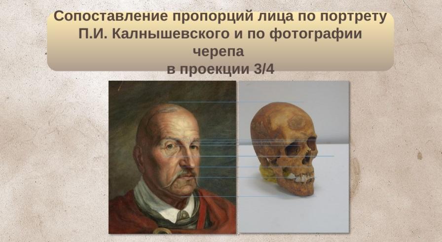 Результаты научных исследований останков предположительно Петра Калнышевского