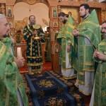 В мужском монастыре Саввы Освященного прошло общеепархиальное богослужение, возглавленное правящим архиереем Высокопреосвященнейший архиепископом Лукой (18.12.2015)