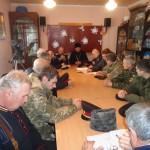 Заседание казачьей рады Мелитопольского куреня.