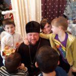 Благочинный г. Мелитополя поздравил воспитанников социально психологического центра реабилитации детей. (20.12.2017)