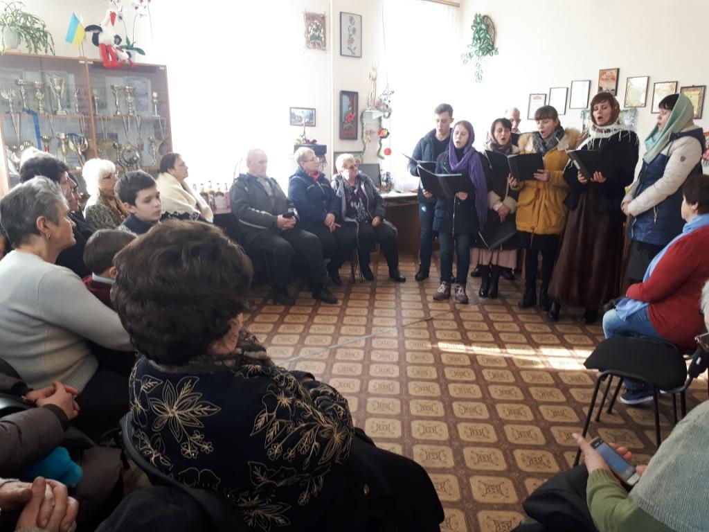 Благочинный города Мелитополя и церковный хор поздравили с Рождеством Христовым людей с инвалидностью. (07.01.2018)