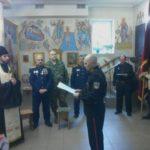 В Мелитопольском храме принимали в казаки. (21.01.2018)