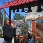 Праздник святой Троицы в Георгиевском храме Мелитополя и мастер класс по колокольному звону.