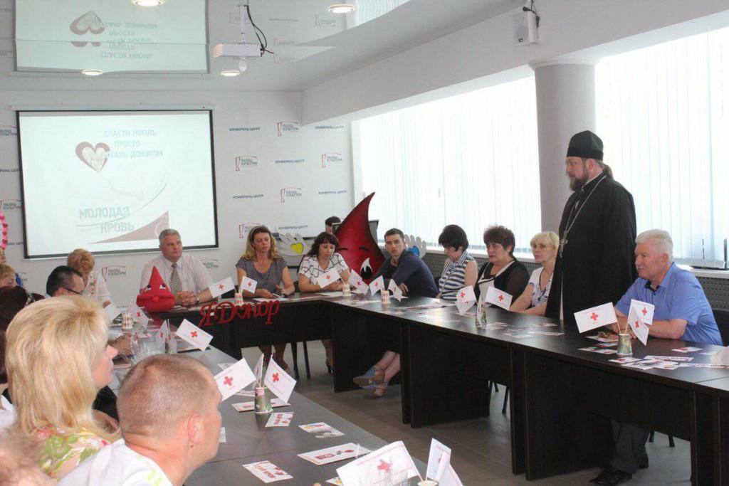 Благочинный Мелитополя принял участие в торжественном мероприятии посвященный Дню донора.