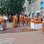 Мелитопольские священнослужители и миряне вознесли свои молитвы на главной Площади города.