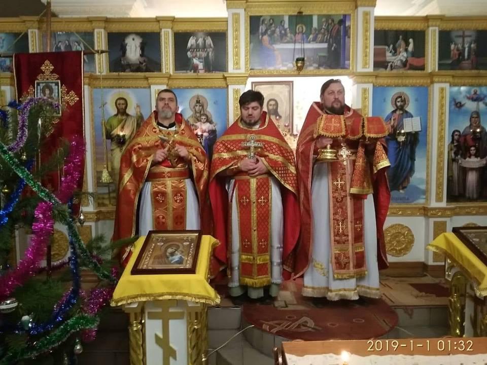 В Мелитопольских храмах отслужили в Новогоднюю ночь Божественную Литургию.