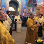Соборная служба священнослужителей в Мелитополе.